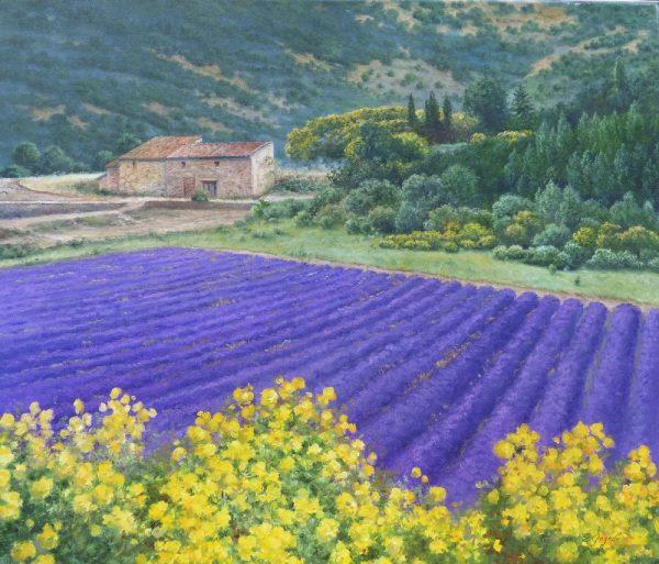 Lavendel mit Blumen