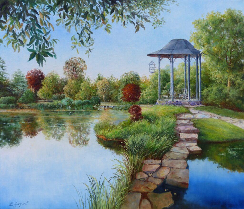 Pavillon am Teich