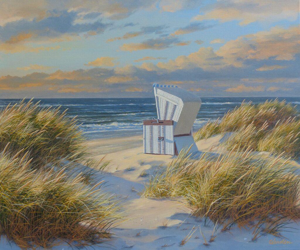 Strandkorb in den Duenen