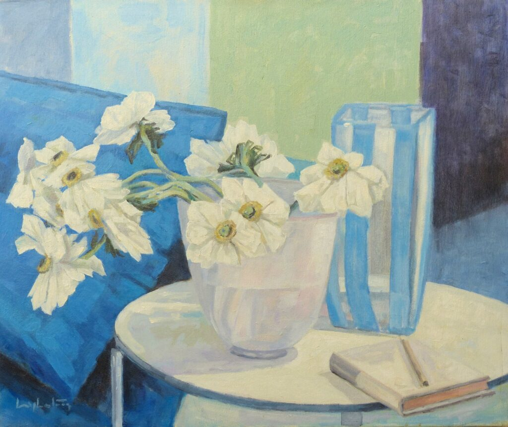 weisse Blumen in der Vase