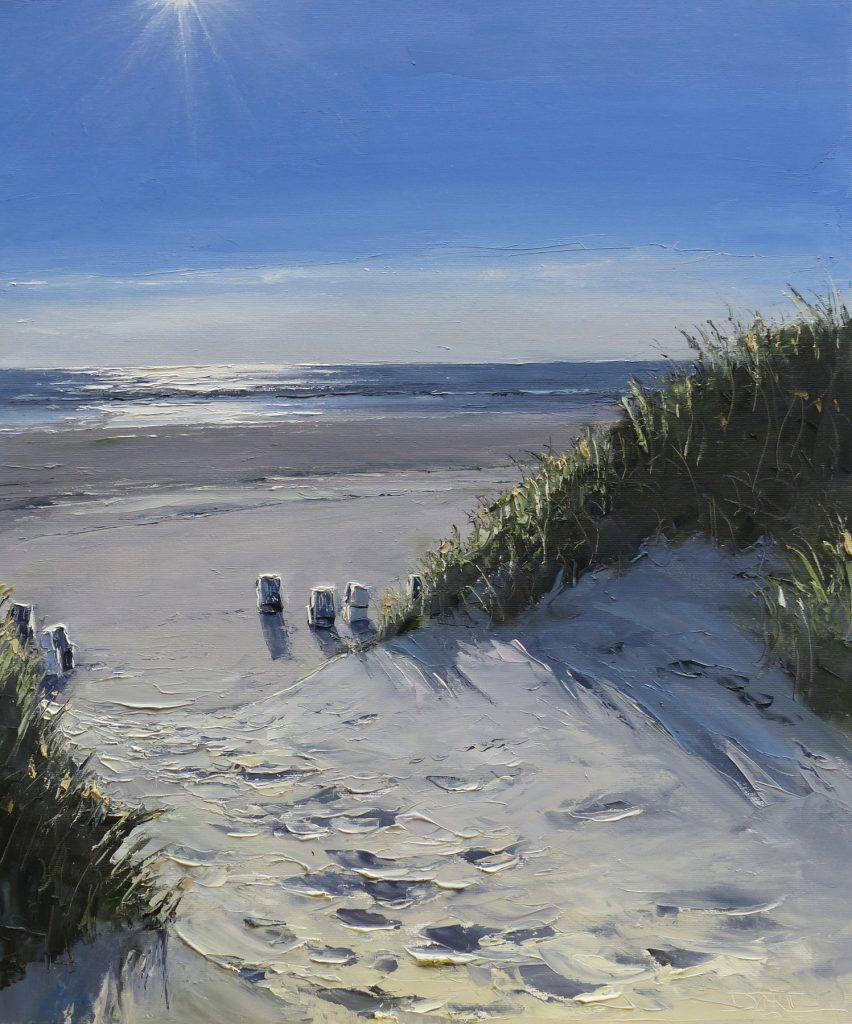 Strandzugang im Gegenlicht
