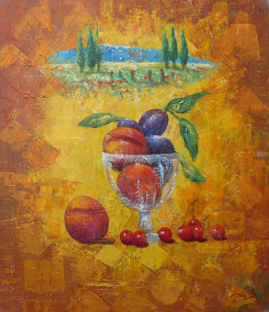 Obst und Landschaft