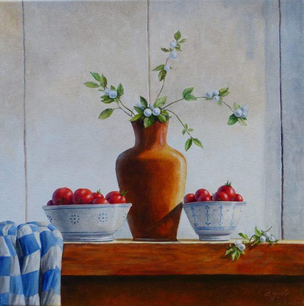 Tomaten mit Vase