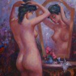 weiblicher Akt im Spiegel