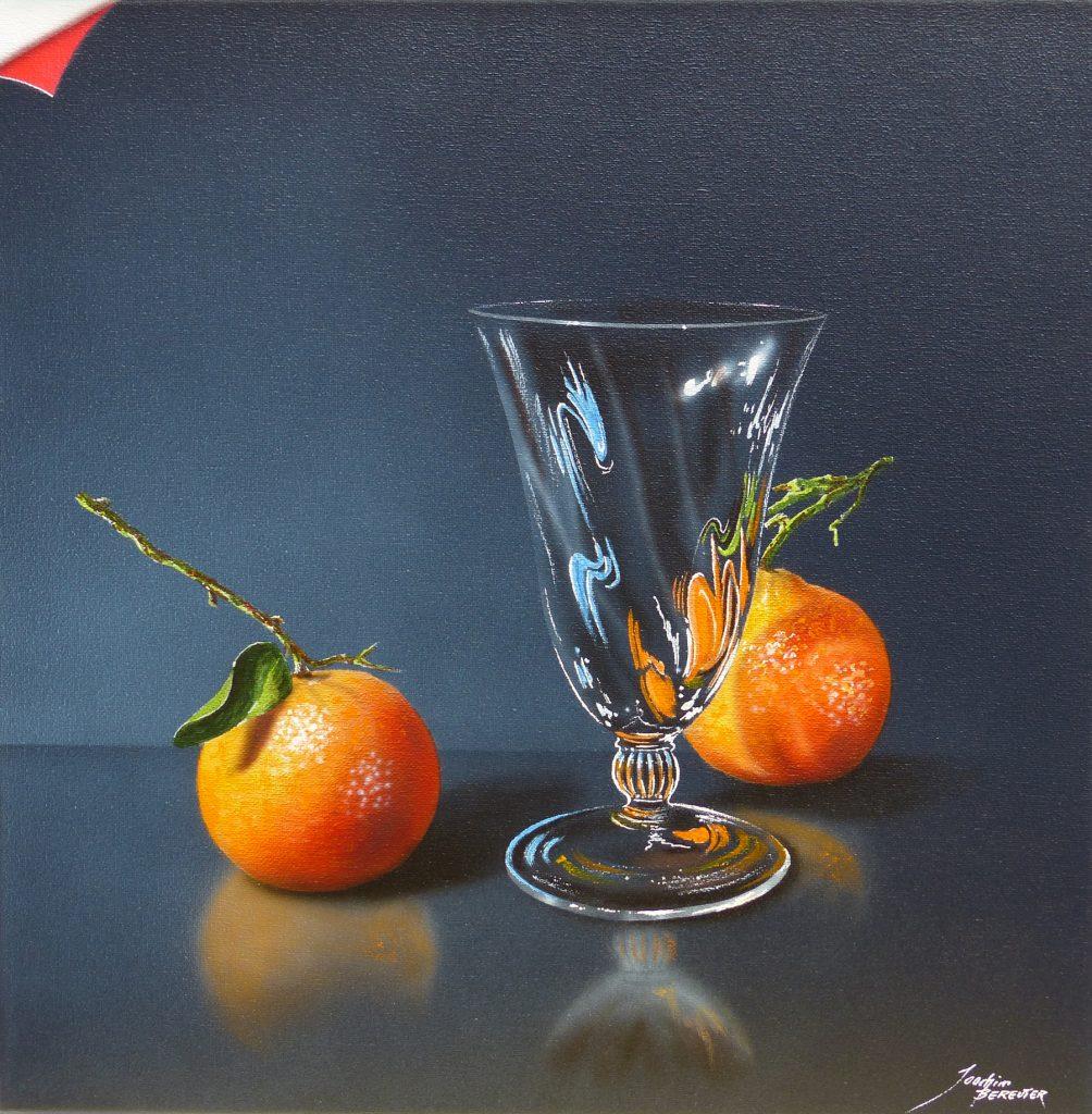 Glas mit Orangen