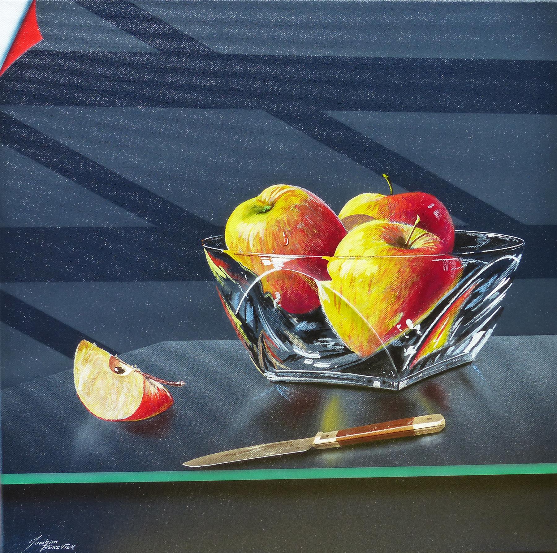 Glasschale mit Äpfeln