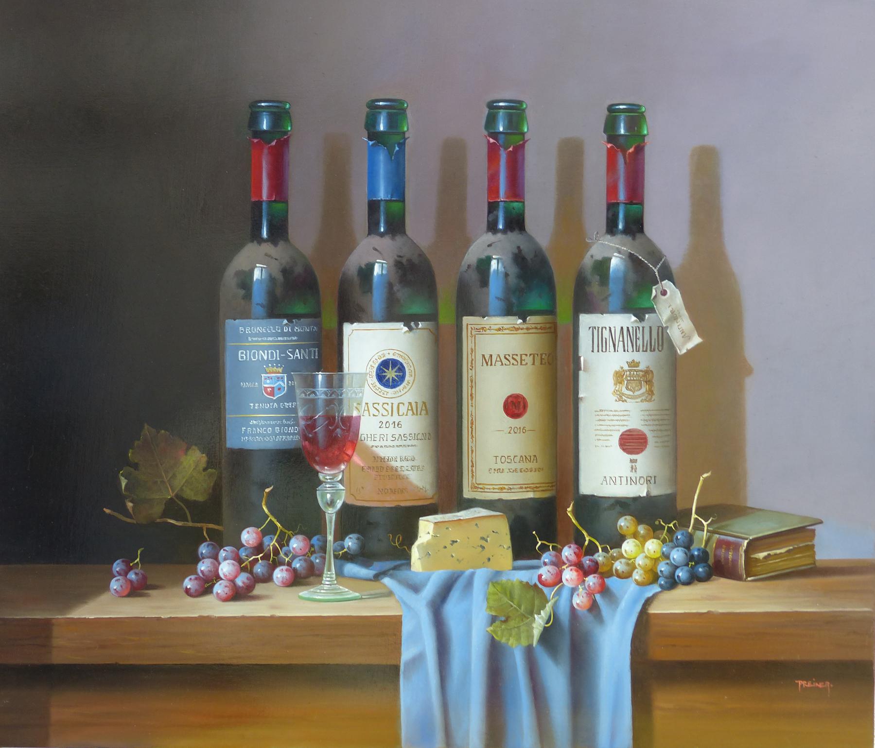 Italienische Weinflaschen