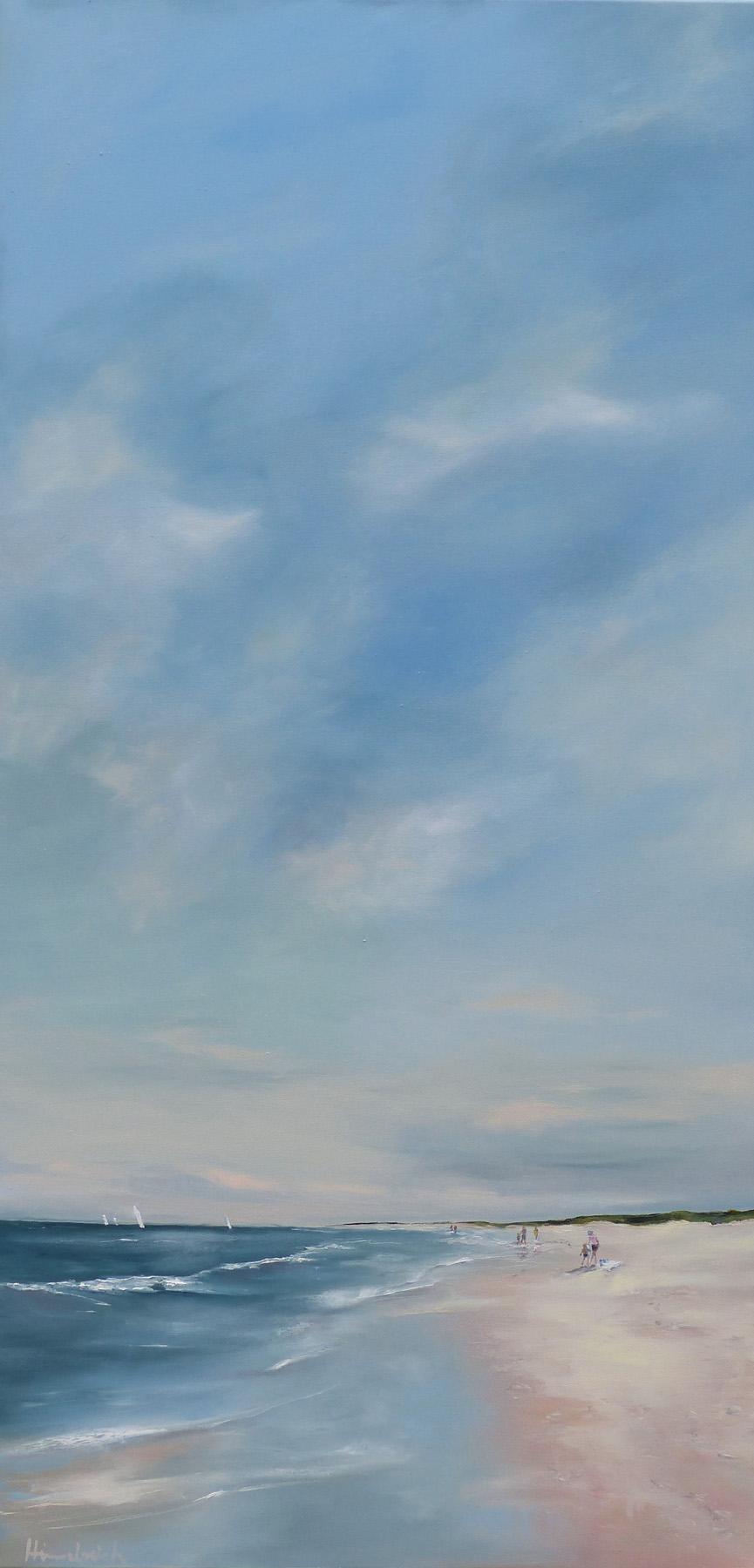 Strandleben hoher Himmel