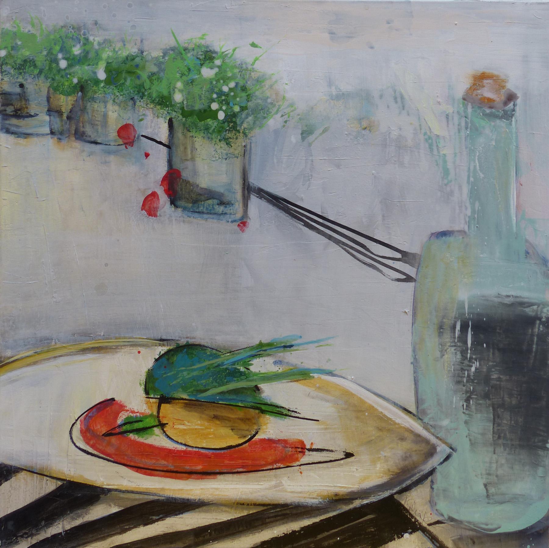 auf dem Tisch